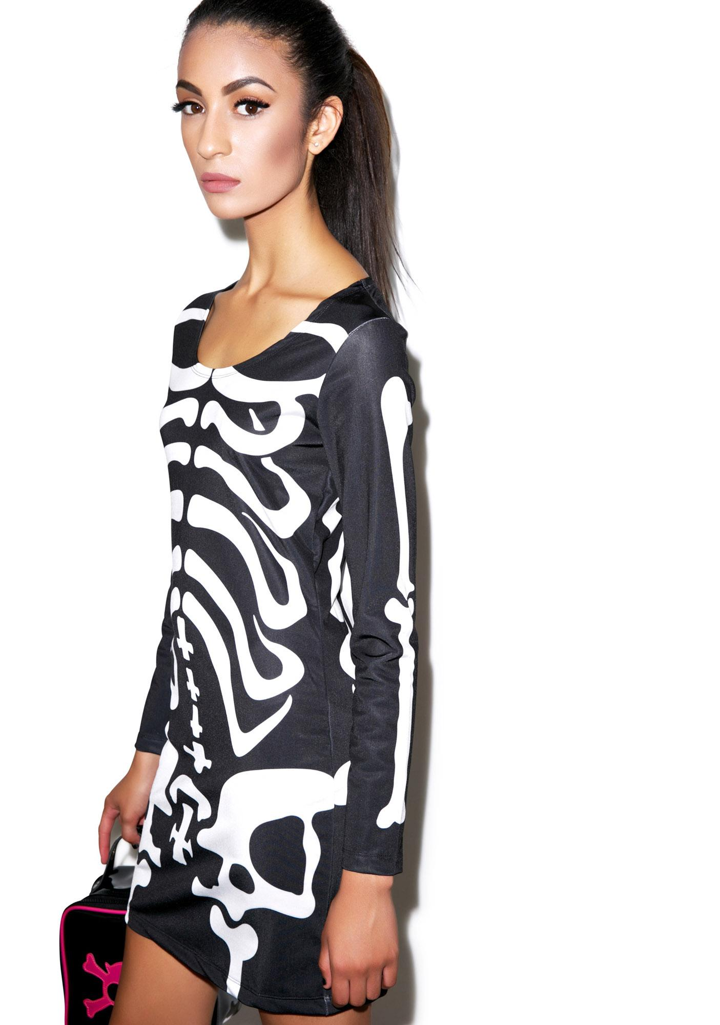 Disturbia Dem Bones Bodycon Dress