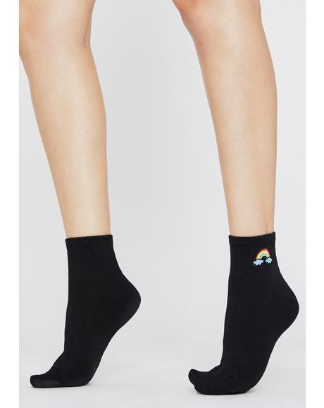 Night Find The Rainbow Ankle Socks