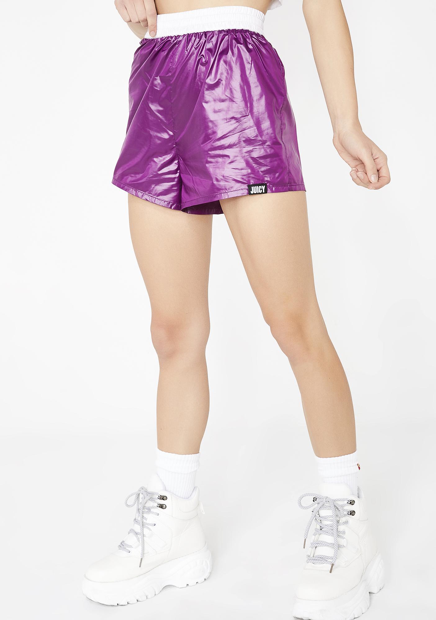 JUICY COUTURE Juicy Logo Nylon Shorts