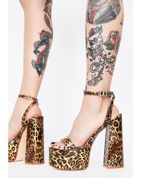 Leopard Freema Platform Heels