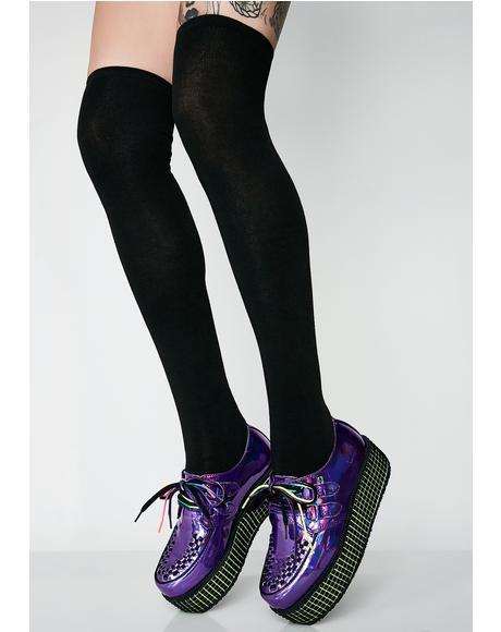 Pump It Up Thigh-High Socks