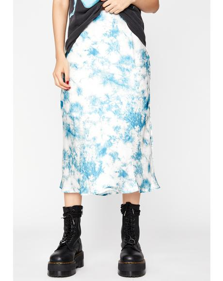 Cotton Candy Skies Midi Skirt