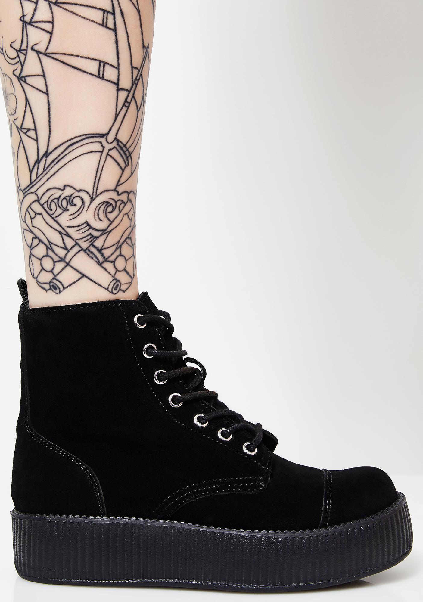 3375a62603c T.U.K. Suede 7 Eye Mondo Creeper Boots