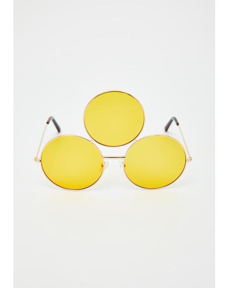 Yellow Memorium Sunglasses