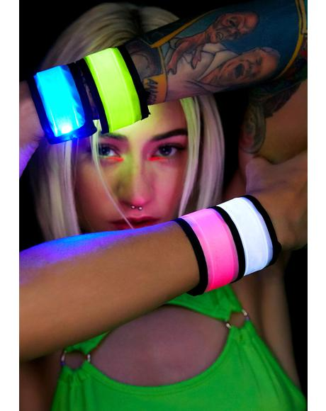 Sunny Lite Brite Light Up Snap Bracelet