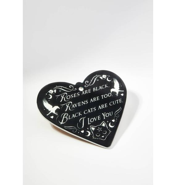 Alchemy England Roses Are Black Poetic Heart Trivet