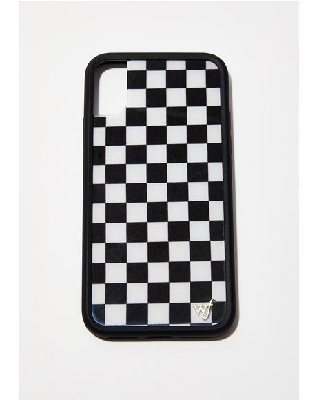 Checkered IPhone X Case