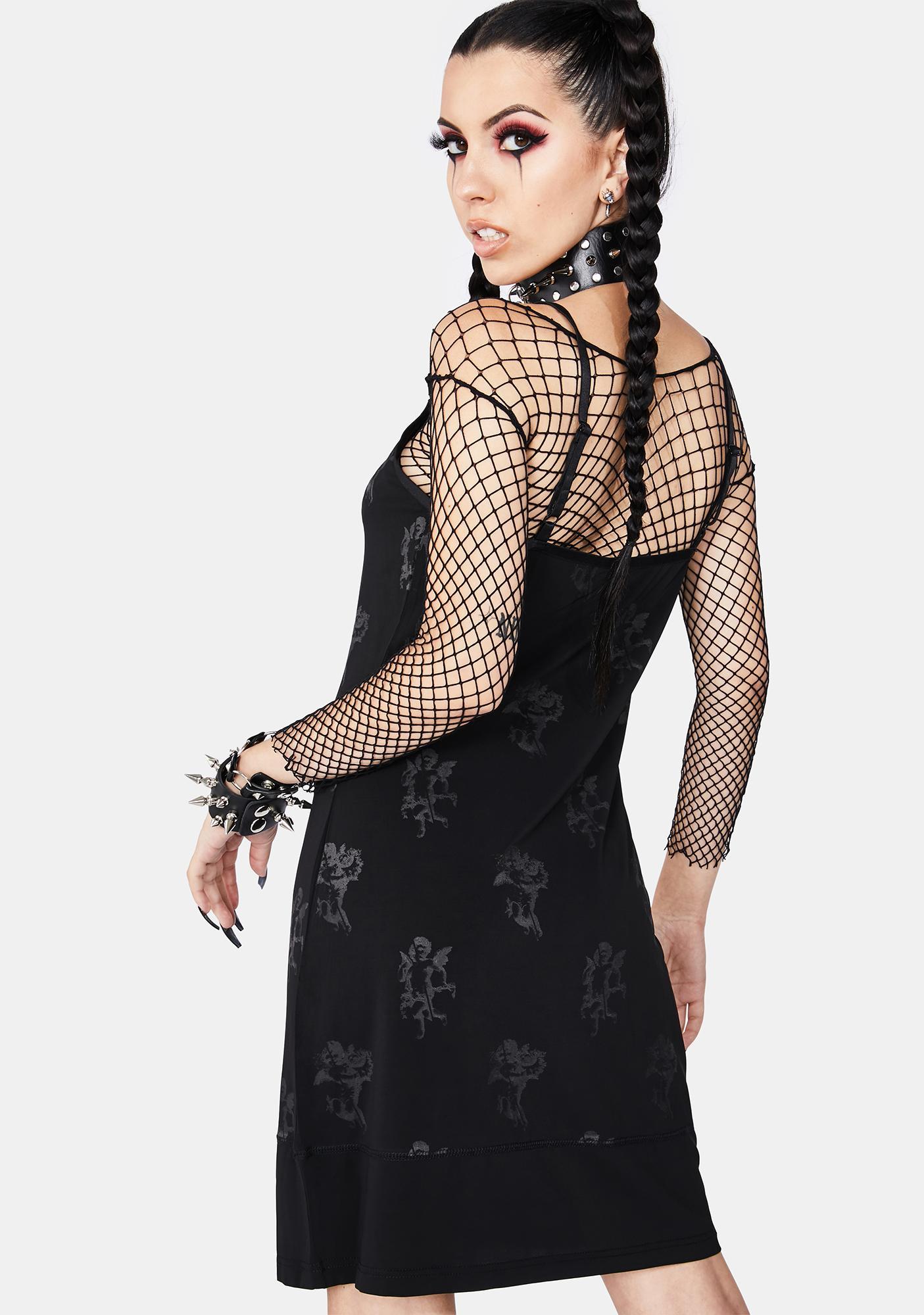 Black Friday Shadow Slip Dress