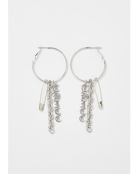 Trust Issues Hoop Earrings