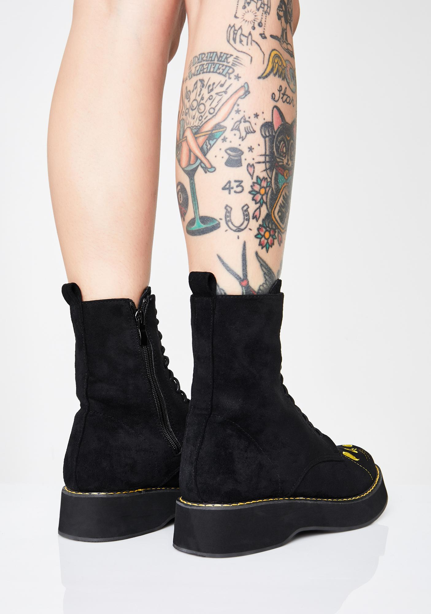 236317f24ac Felix Cat Face Ankle Boots