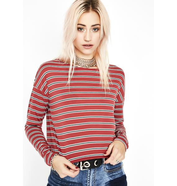 Addicted To Love Striped Top