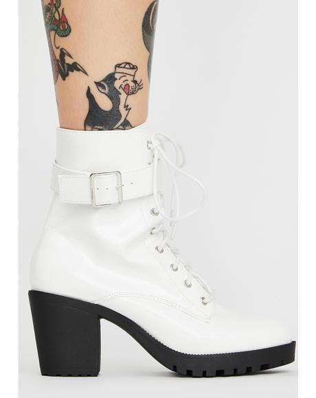 Arctic Yas Hunty Patent Boots