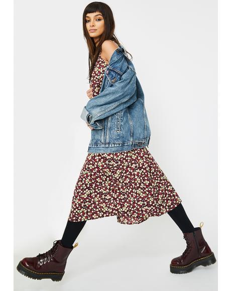 Floral Sin Midi Dress