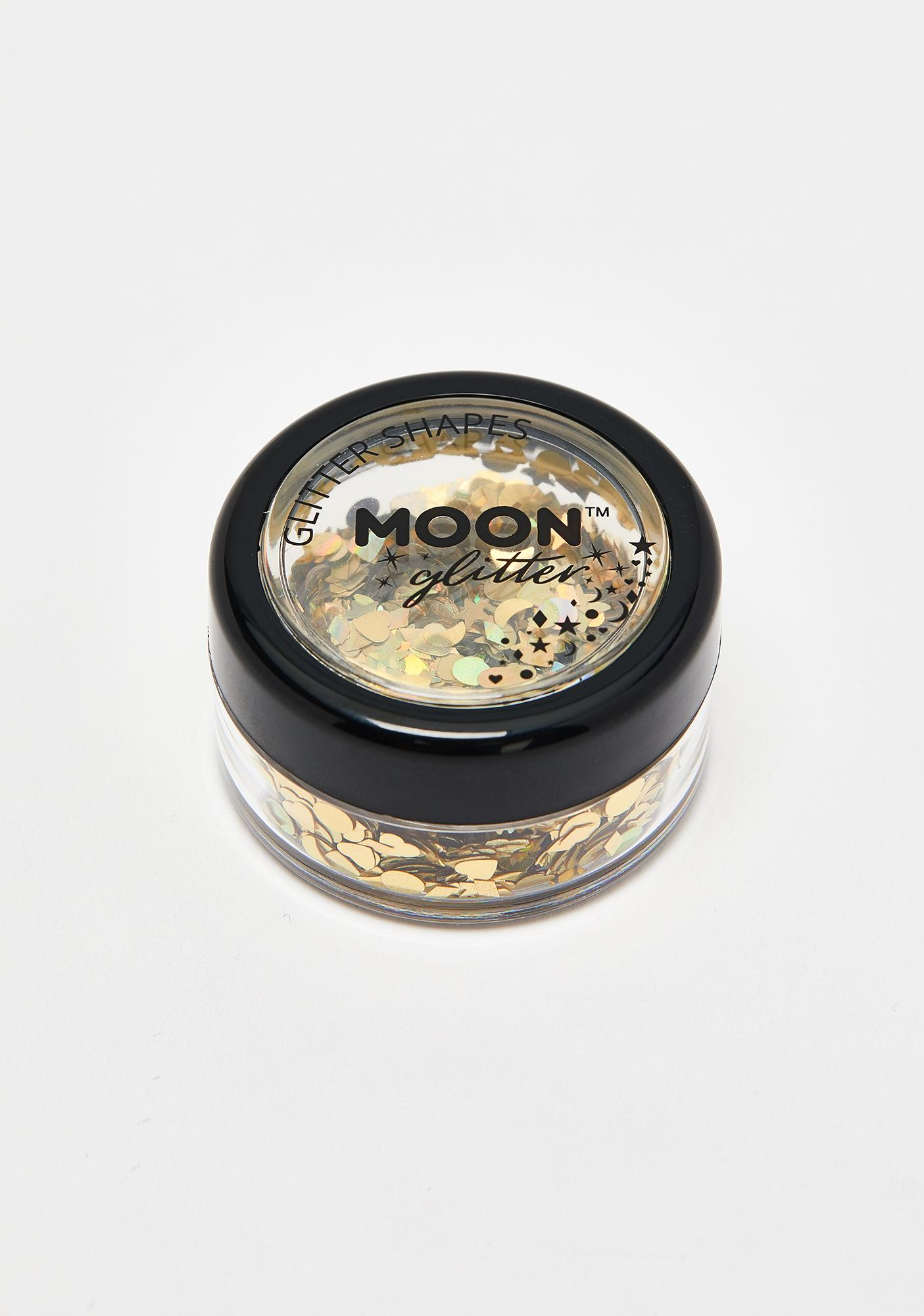 Moon Creations Gold Holographic Glitter Shapes