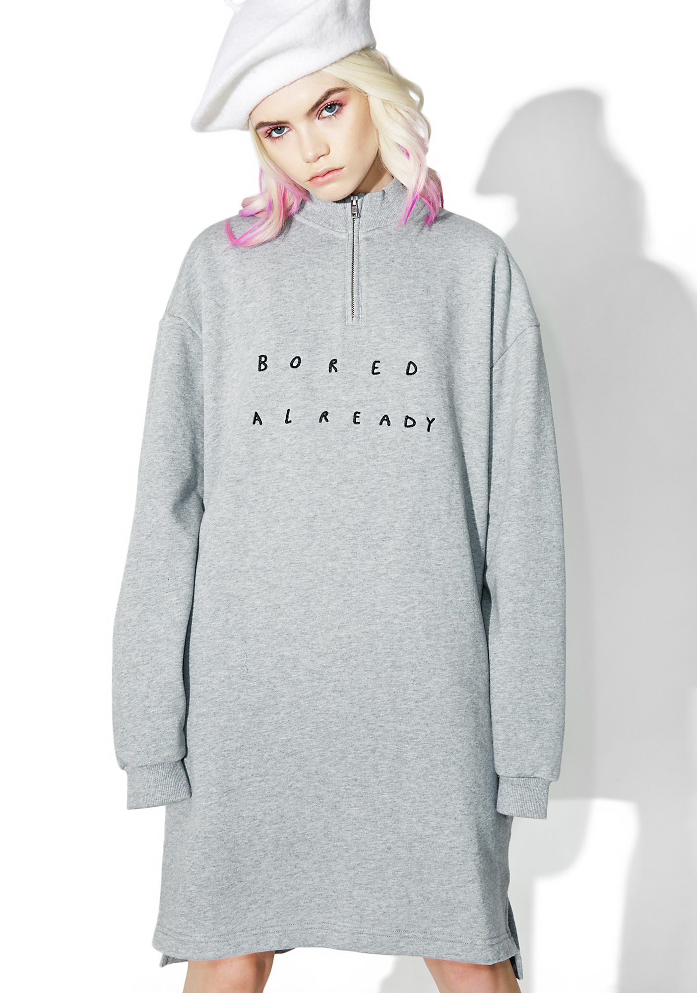 Lazy Oaf Boring Zip Up Sweatshirt