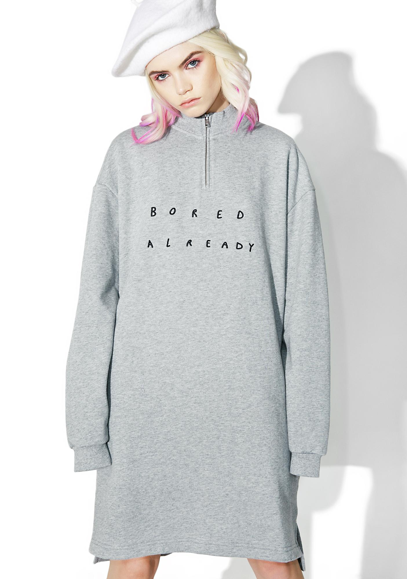 e638aaf49d Lazy Oaf Boring Zip Up Sweatshirt