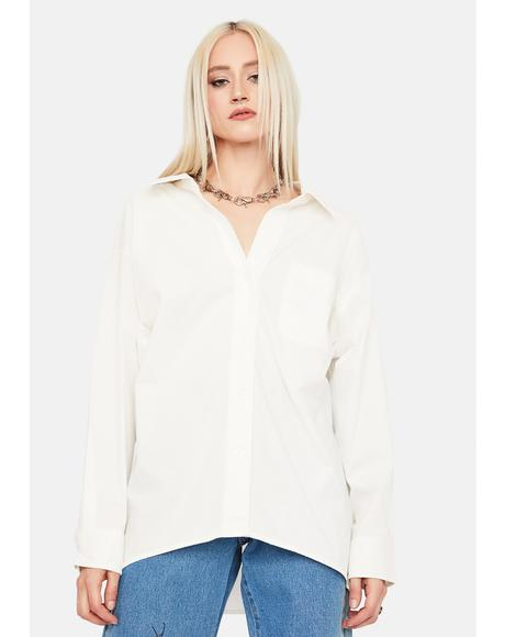 Angel Know Your Worth Button Up Dress Shirt