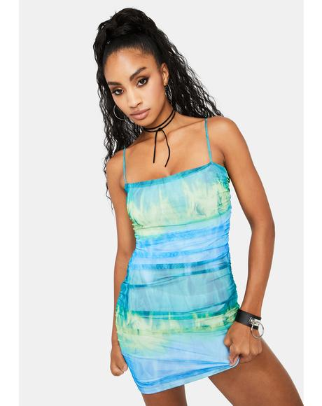 Azul Fire Water Mini Dress