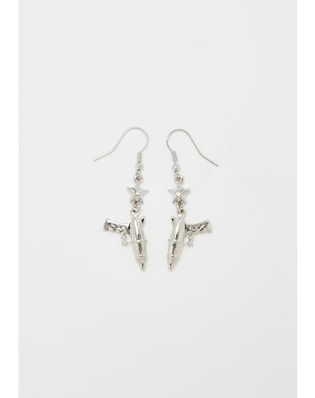 Laser Hit Space Gun Earrings
