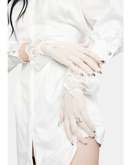 Angelic Forgotten Shadow Lace Gloves
