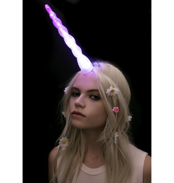 LED Rainbow Racer Unicorn Horn