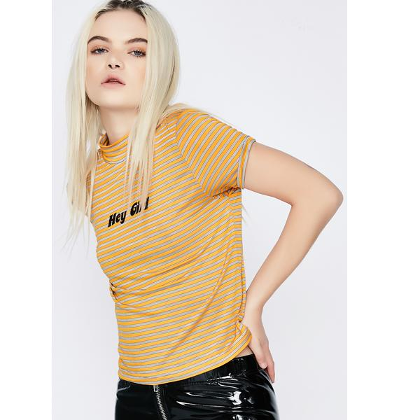 The Ragged Priest Chat Up Crop Top