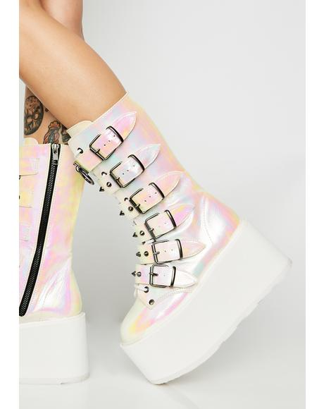 Pearlescent Prizm Heist Buckle Boots