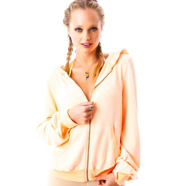 Wildfox Couture Where I Fell From Jacket Vintage Varsity Malibu Hoodie