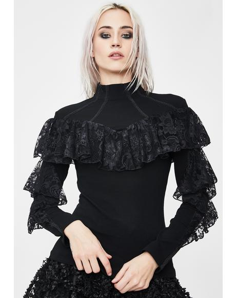 Punk Lace Knitted Blouse
