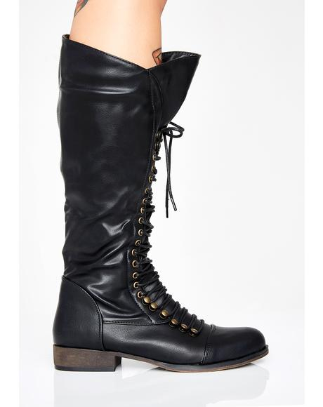 Punk Nation Lace Up Boots