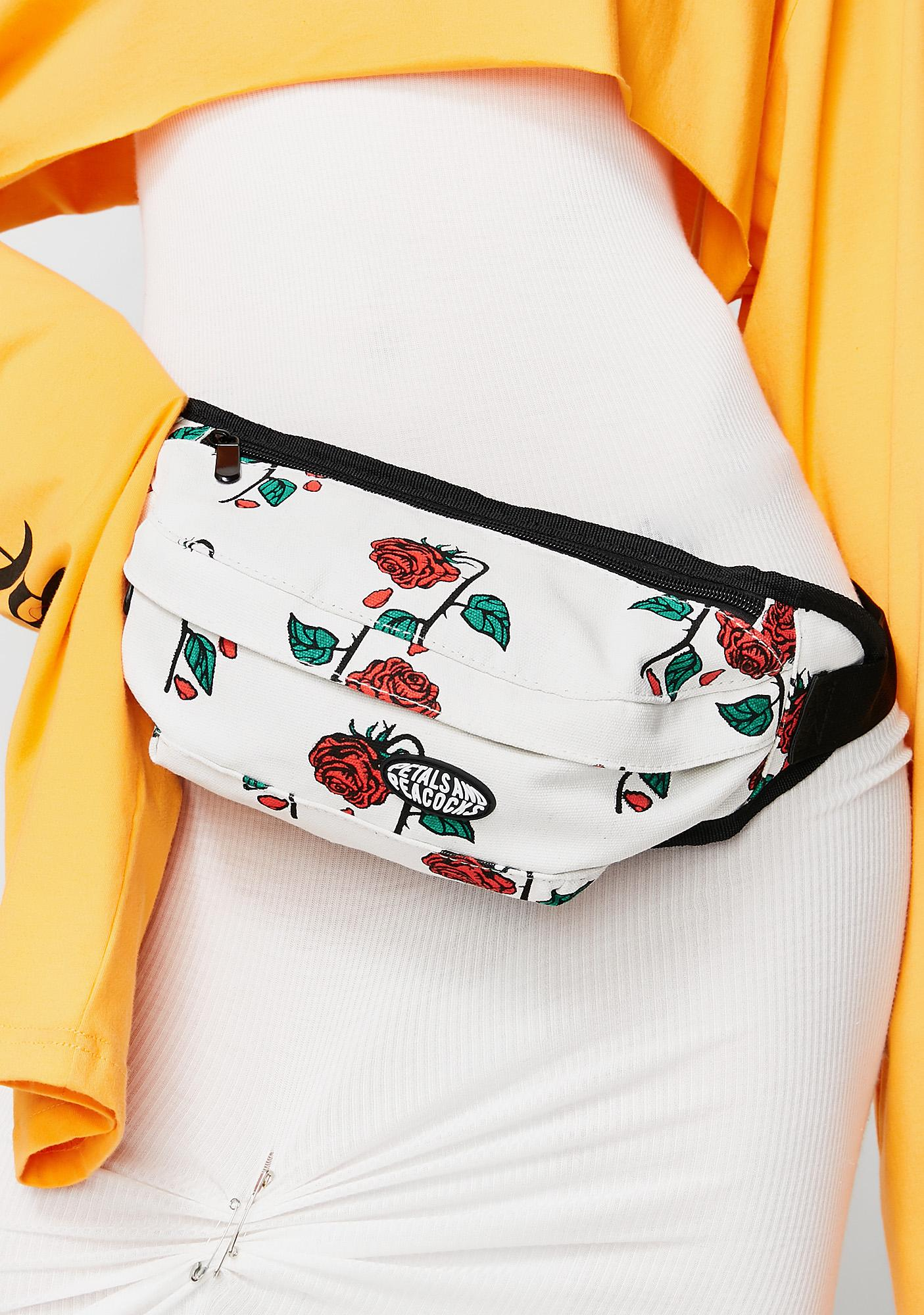 Petals and Peacocks Petals Rose Waist Bag
