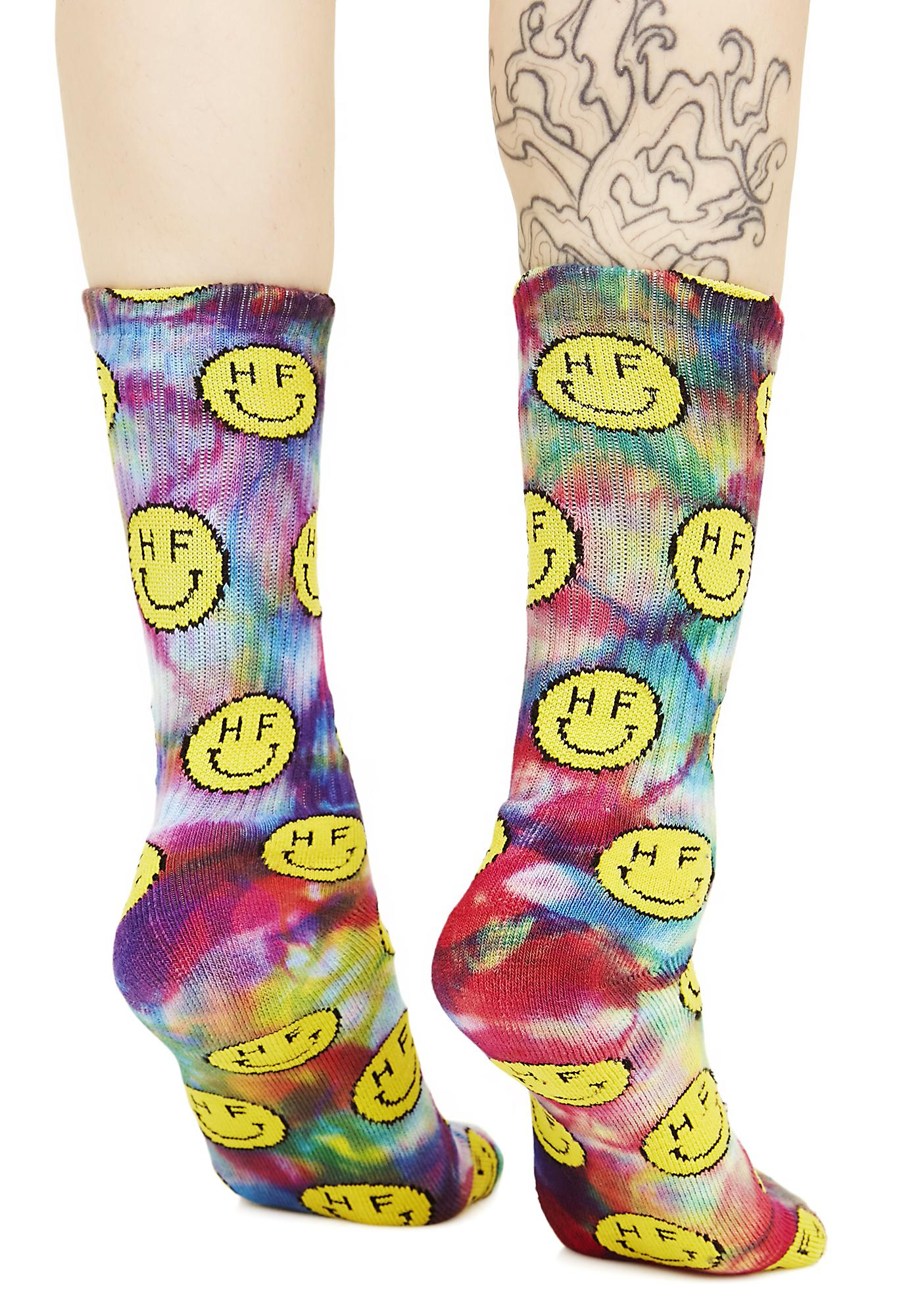 HUF Trippy Smiles Crew Socks