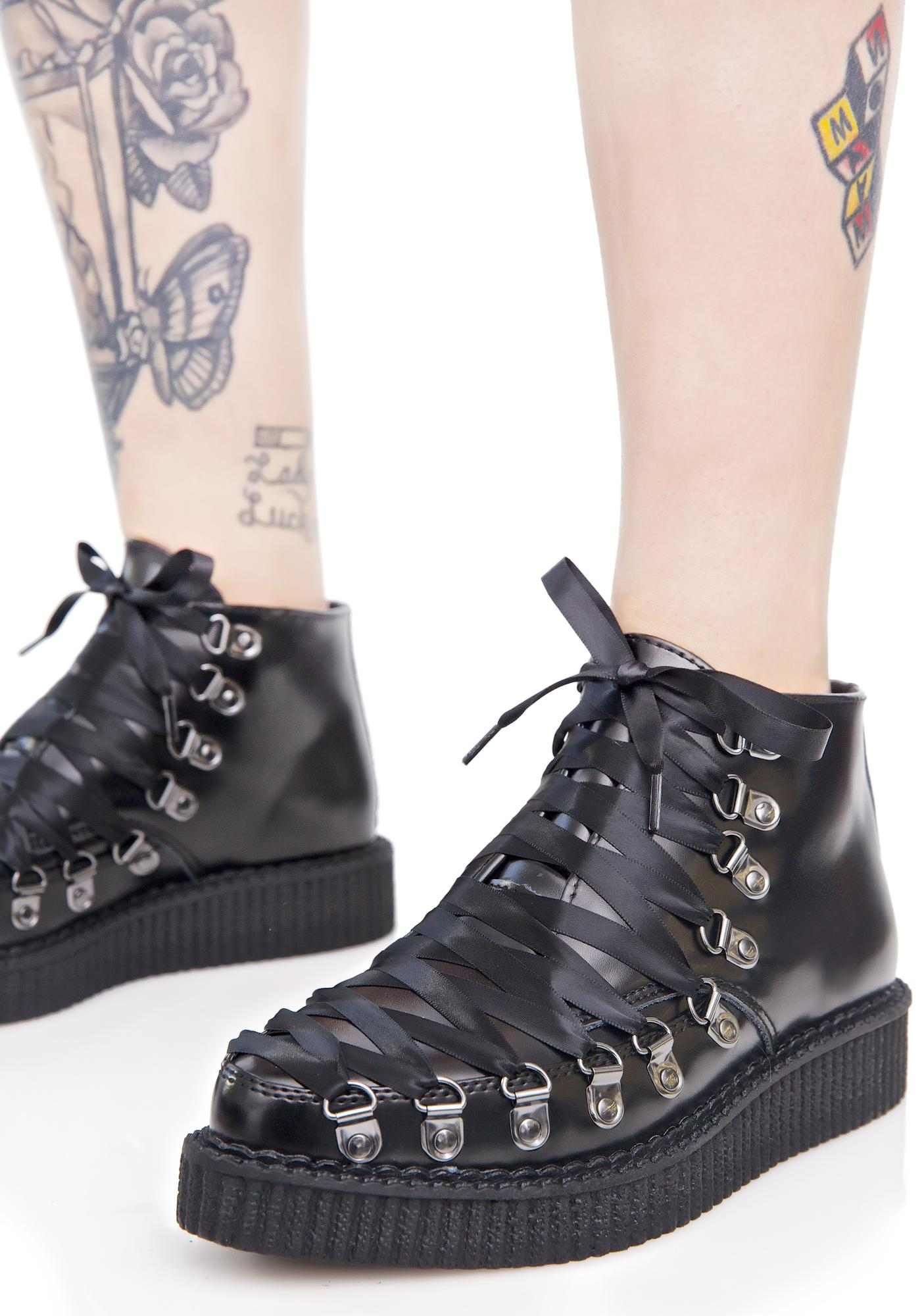 a3ac100df90 T.U.K. Lace-Up Corset Creepers