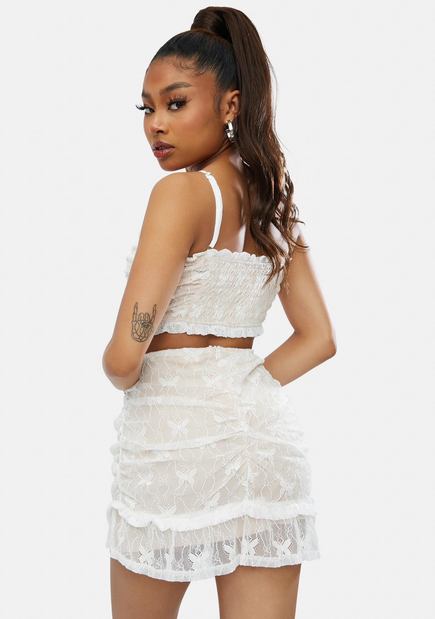 Euphoric Fairy Lace Mini Skirt