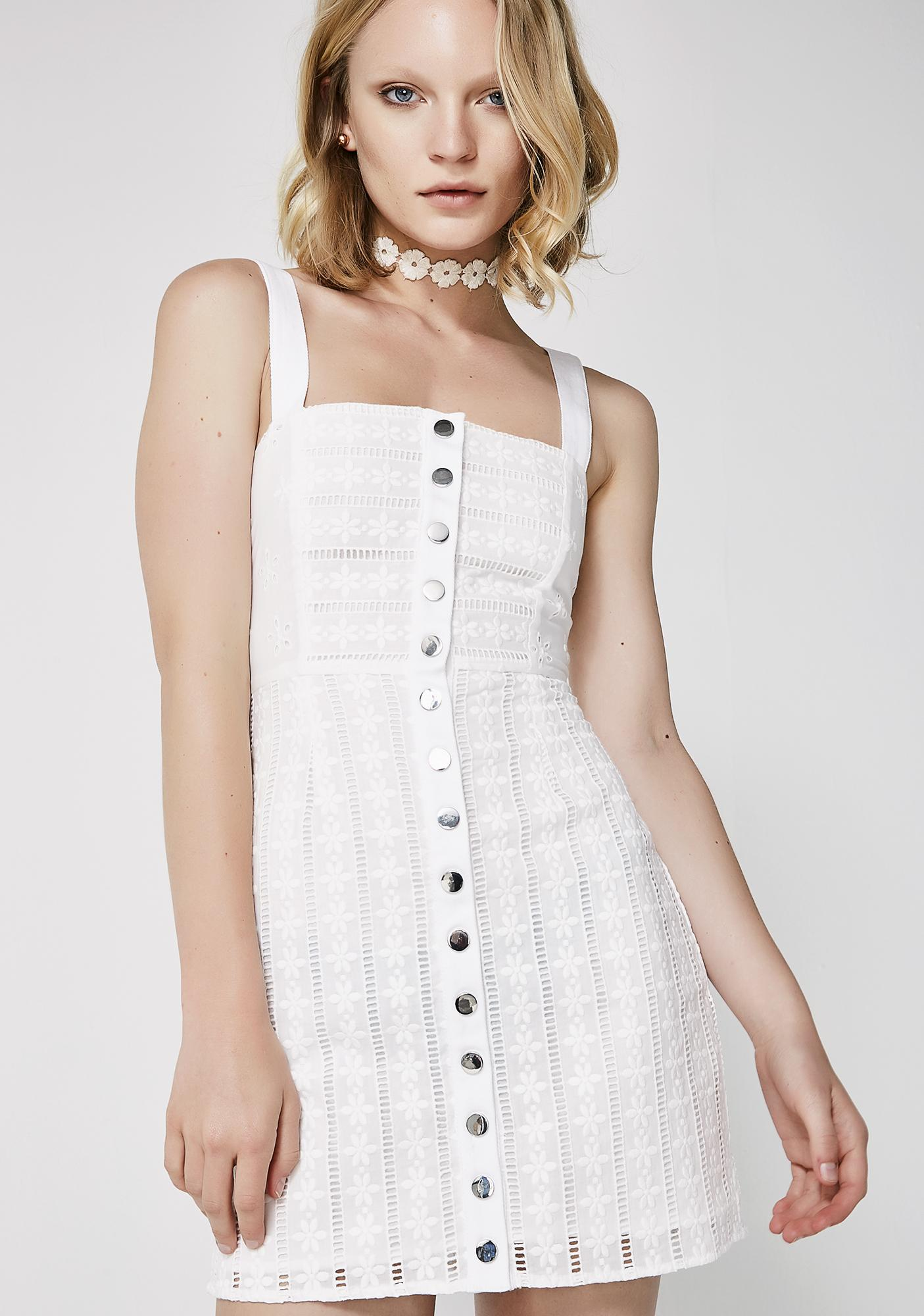1429b99a0e67 For Love   Lemons Hermosa Eyelet Snap Dress