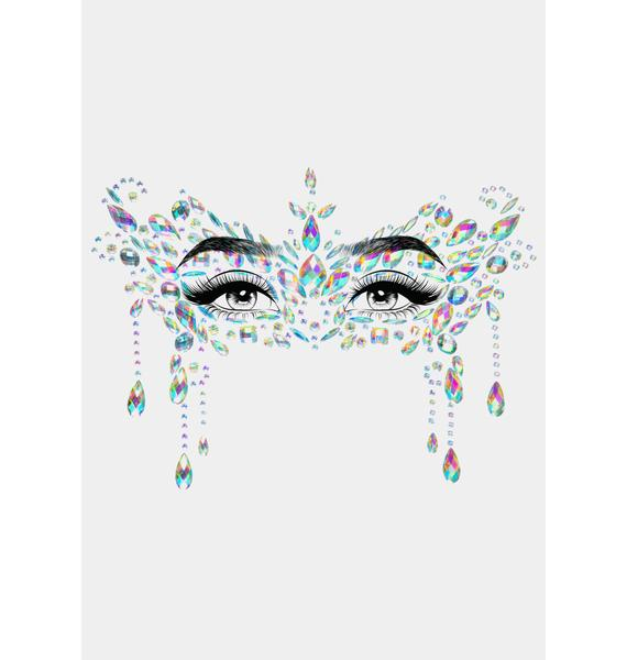 Clearly Nightshade Masquerade Face Jewels