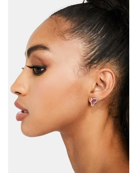 High As A Kite Butterfly Earrings