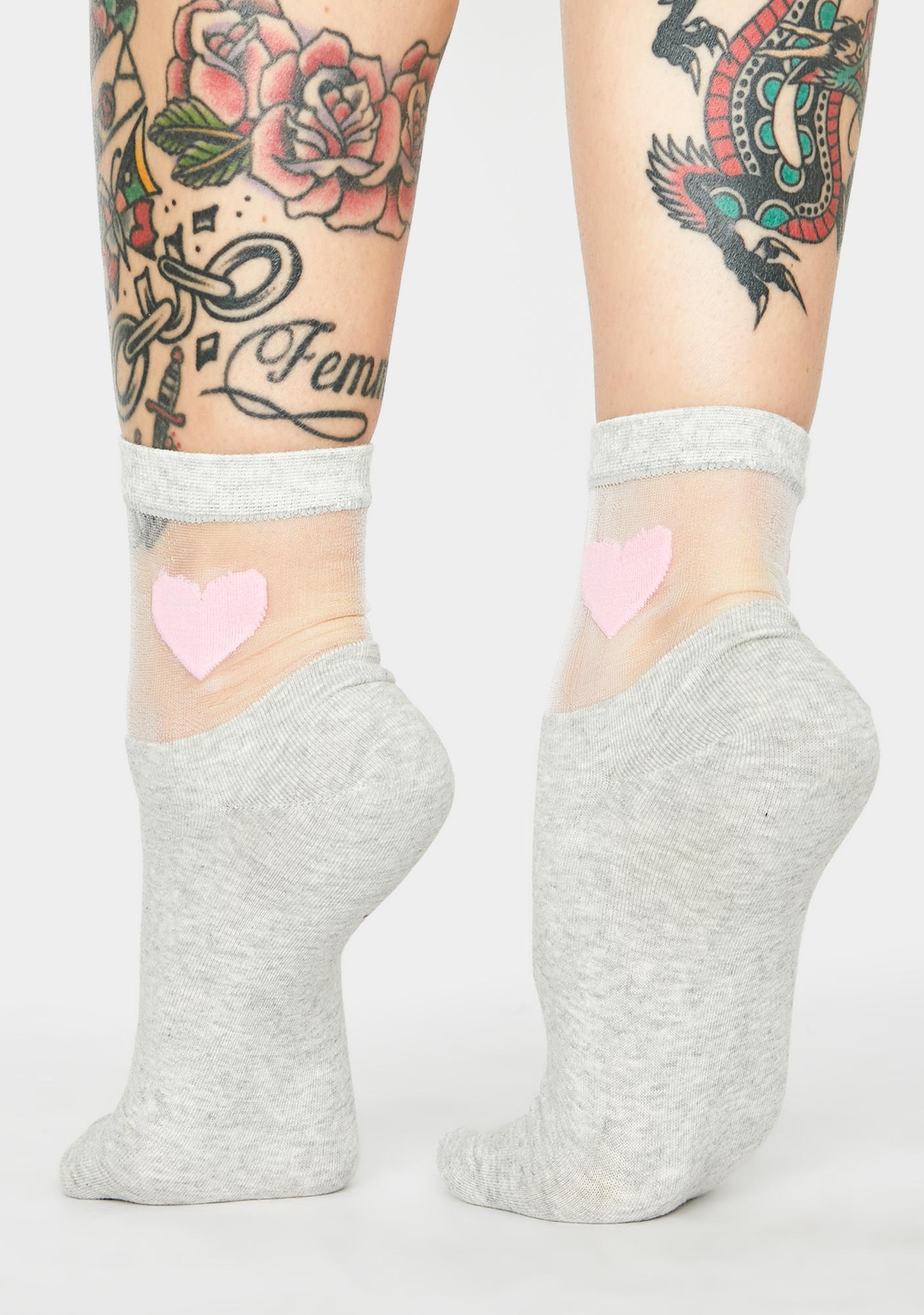 Smokin' Solemates Heart Socks