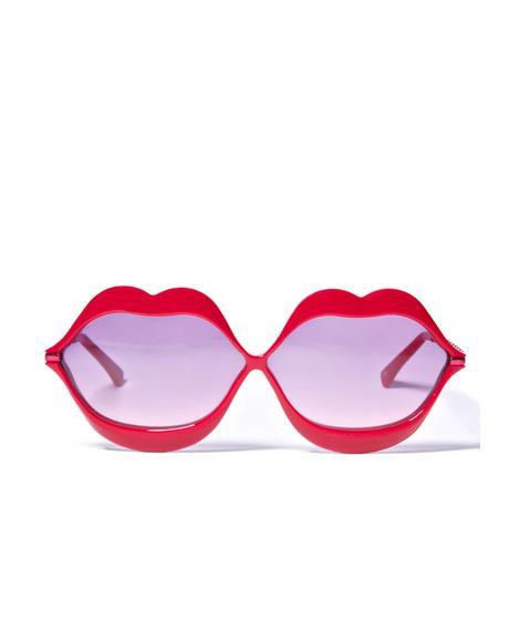 Red Lip Service Sunglasses