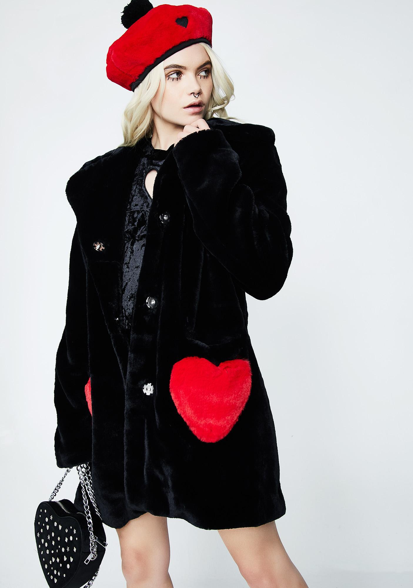 Lazy Oaf Queen Of Hearts Coat