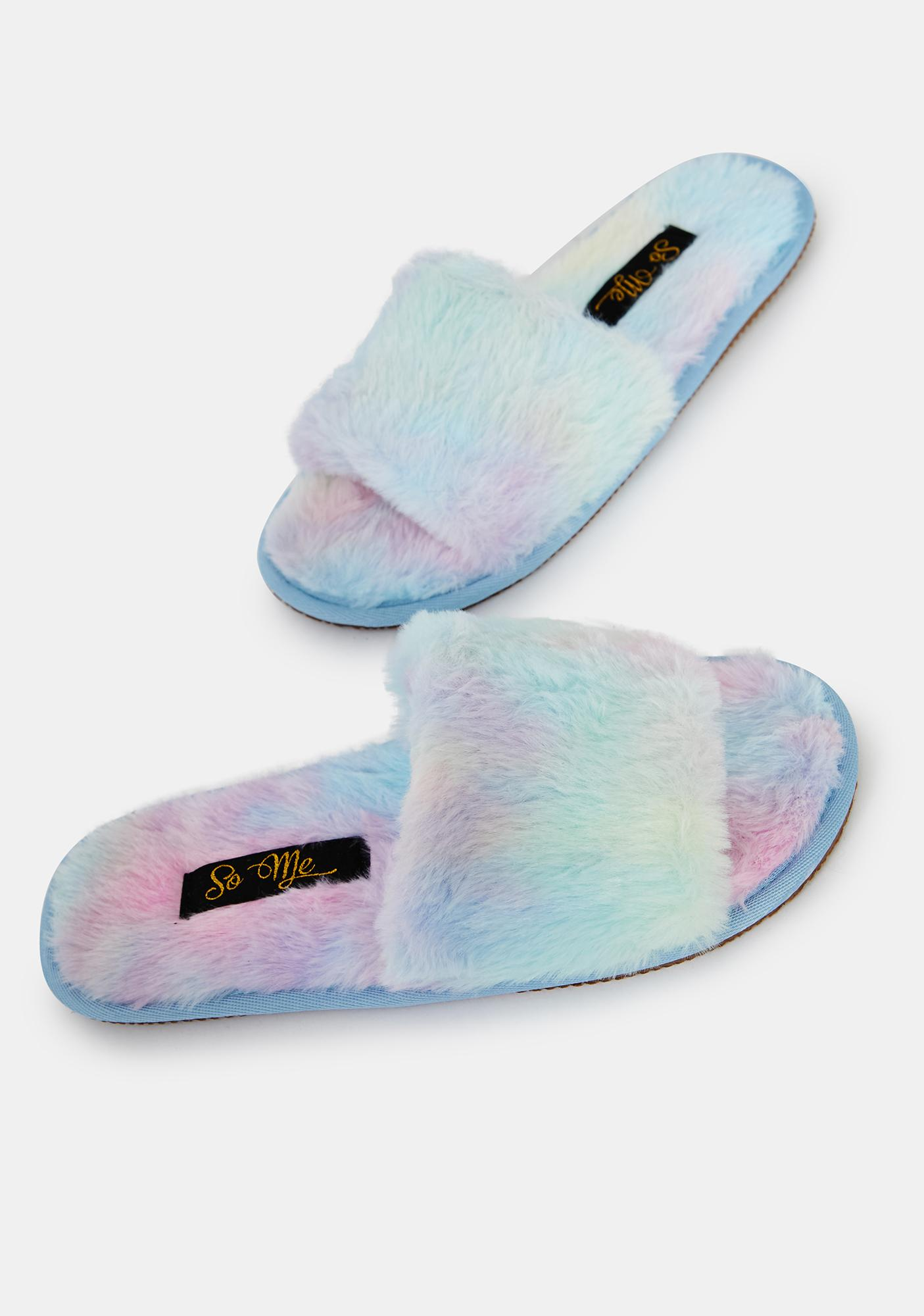 Prism Fluff With Me Fuzzy Slipper Slides