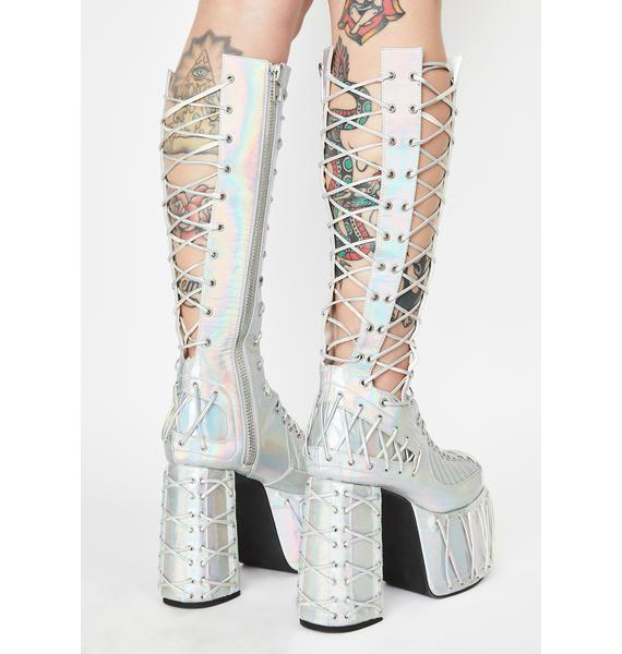Club Exx Moonlight Rude Awakening Platform Boots