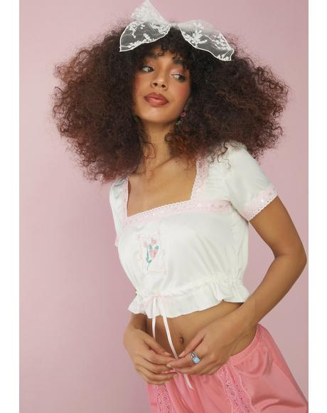 Enjoy The Little Things Floral Crop Top