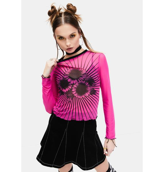 dELiA*s by Dolls Kill Mind Over Matter Mesh Top