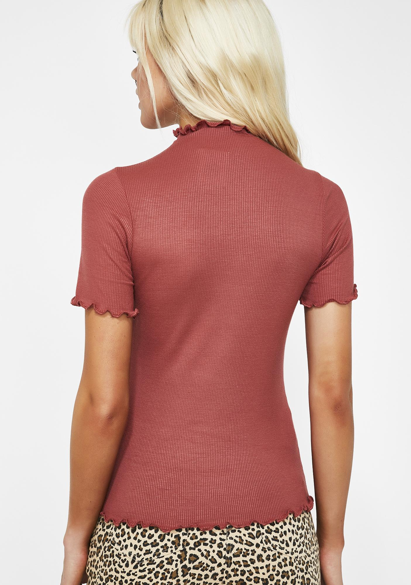 Amber Be Here Mock Neck Top