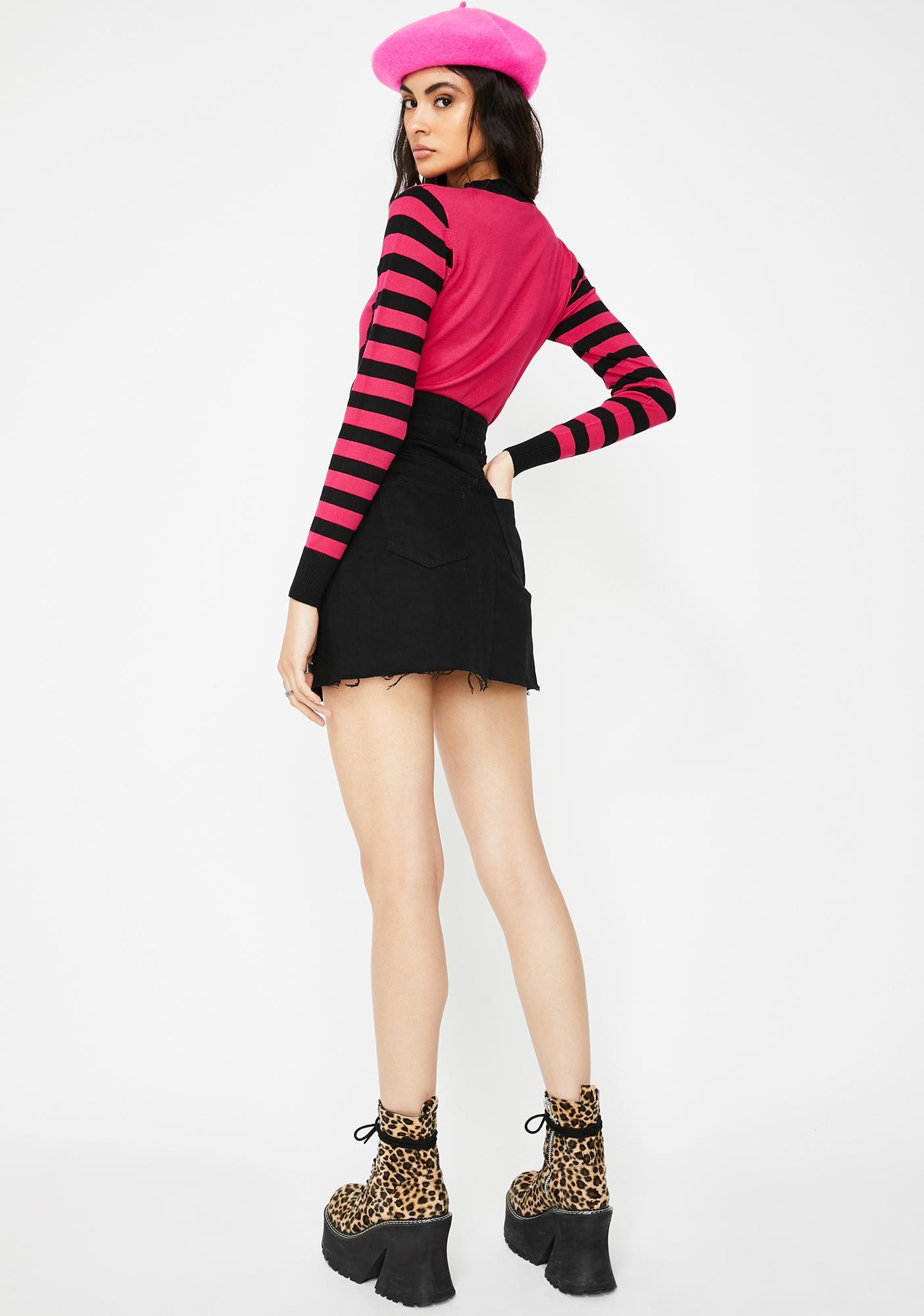 Blank NYC Night Stroll Denim Skirt
