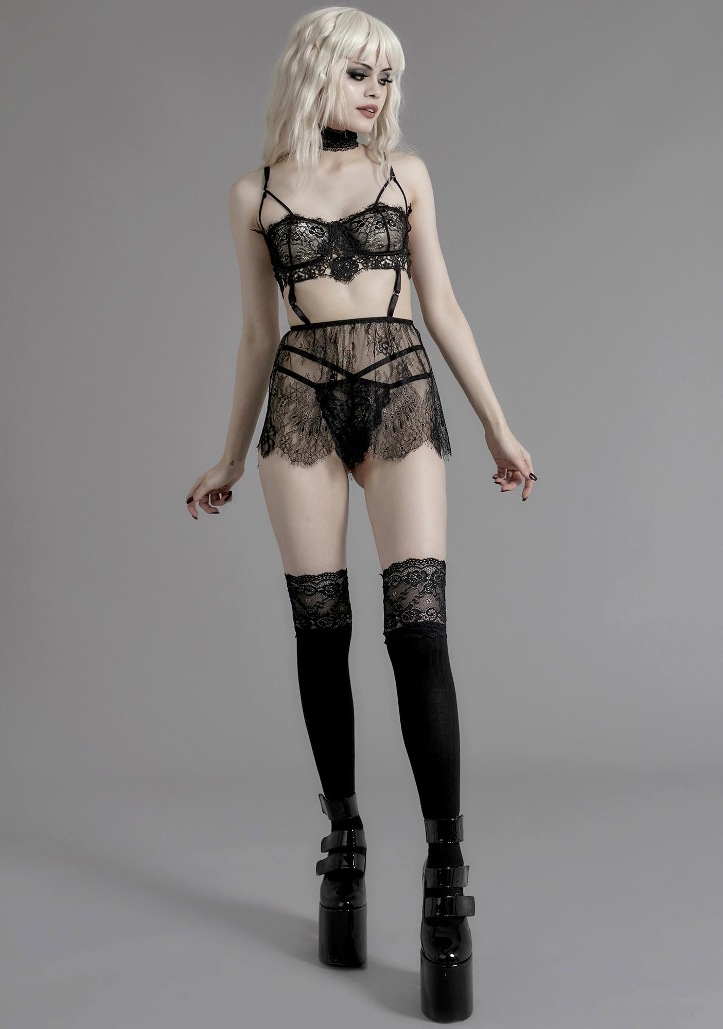 Widow Ill Fated Lovers Lace Set