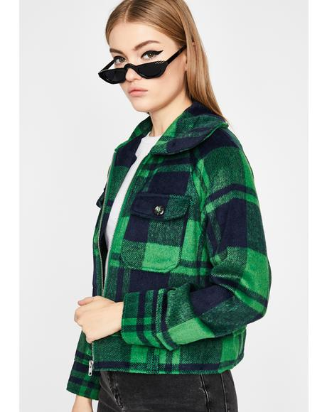 Hunted Honey Plaid Jacket