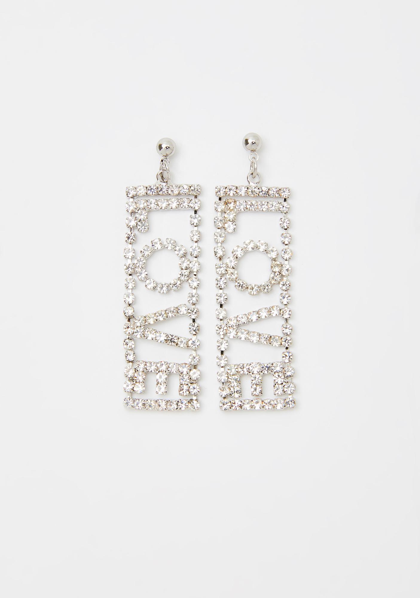Love Is Love Rhinestone Earrings