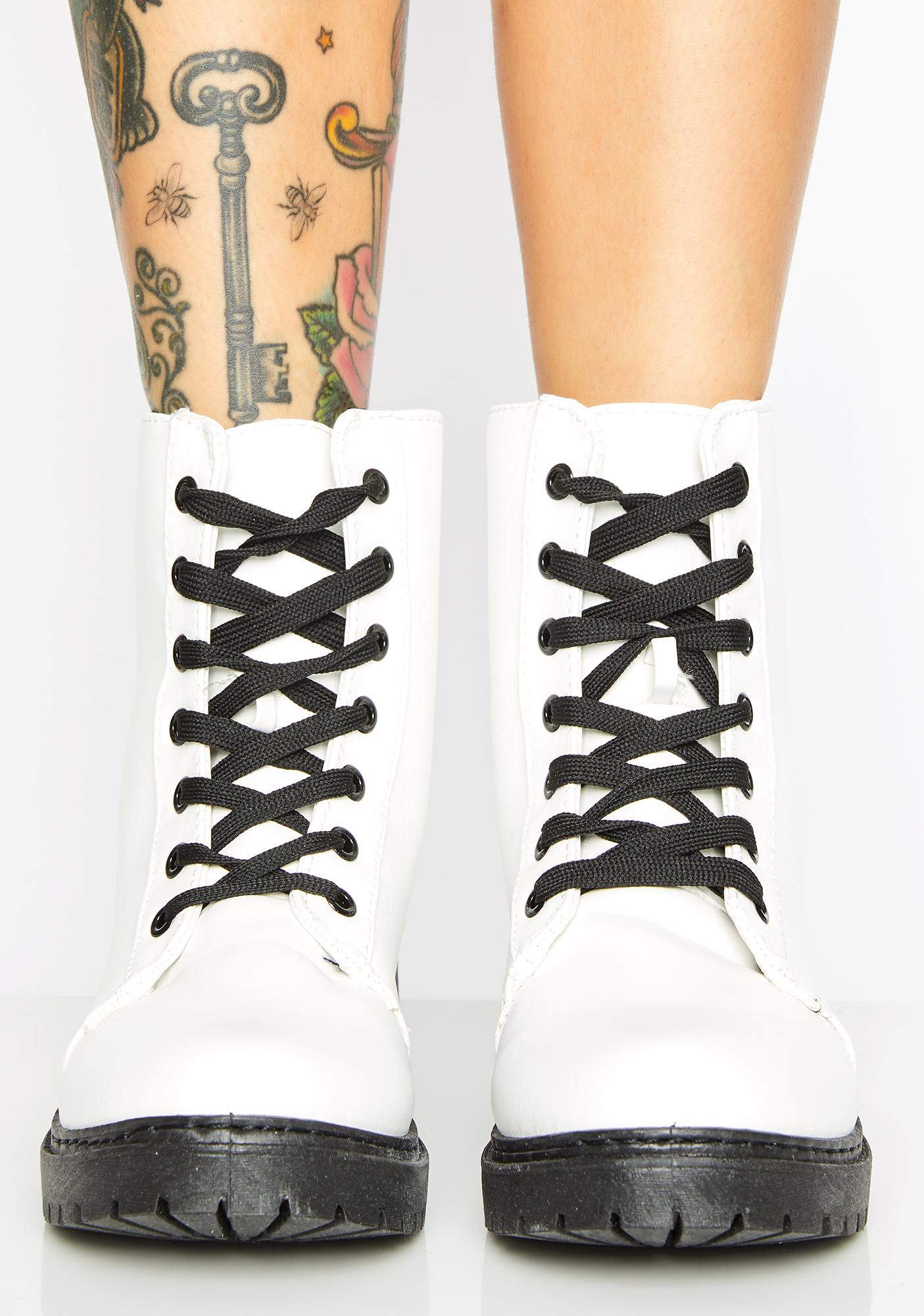 Absent Minded Combat Boots